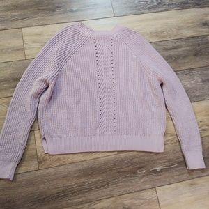 Topshop lavender crop sweater